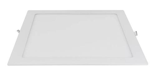 painel slim quadrado embutir led 24w bivolt 4000k luz neutra