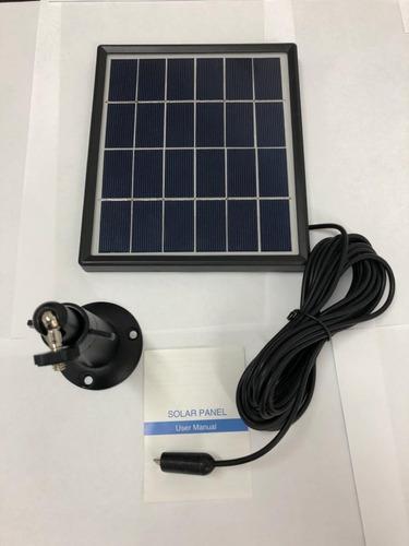 painel solar p/ câmera de segurança com bateria recarregável