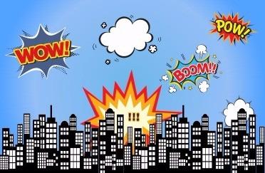 Painel Sublimado Cidade Herois Quadrinhos 2 5 X 4 0 C Ilhos R