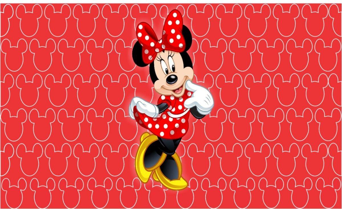 Painel Sublimado Minnie Vermelha 2,0 Alt X 2,5 Larg C