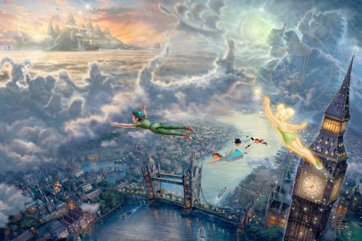 Painel Sublimado Peter Pan Terra Do Nunca 15 Alt X 25 Lar