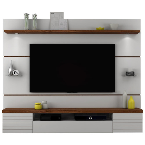painel suspenso para tvs até 55 polegadas - dj móveis estilo