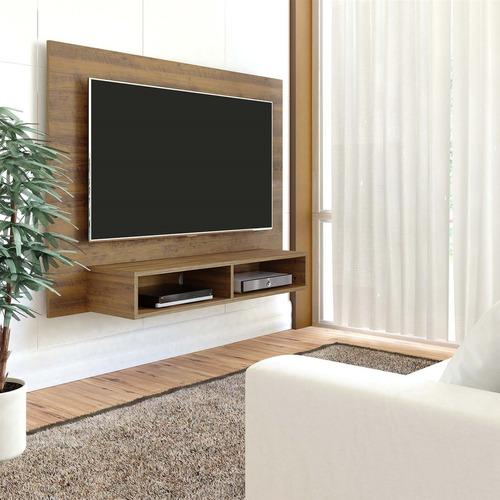 painel tv até 42 polegadas flash com nichos pinho  artely