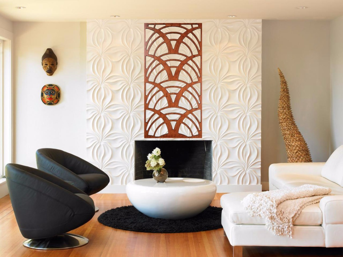 Painel Vasado Mdf Decorado Espelho Quadro Divis Ria Sala R 1 00  ~ Divisoria Para Cozinha E Sala