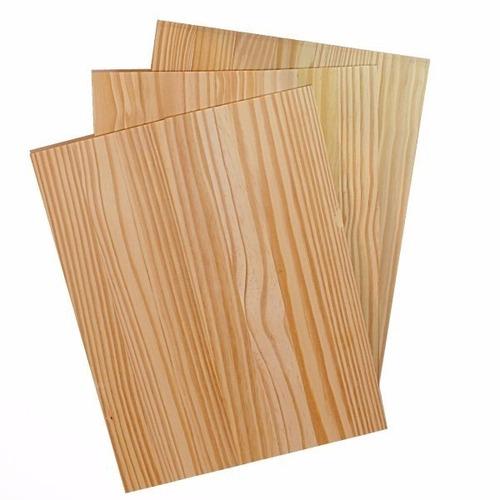painel/chapa de madeira pinus blank 60 x 30 x 1,1 cm