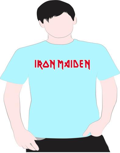 paint camiseta iron  maidem azul 7