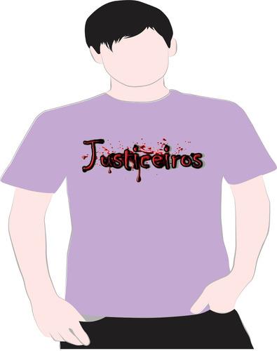 paint camiseta justiceiro lilas