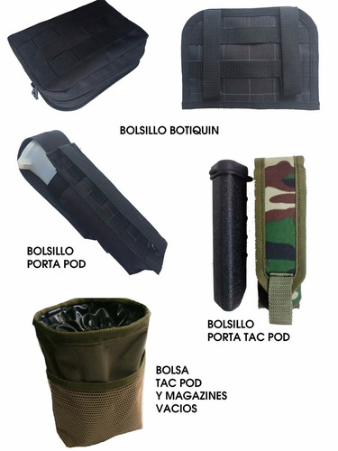 paintball - bolsillos molle