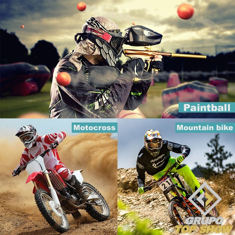 fda0879586130 Óculos Proteção Airsoft Paintball Bike Moto - Proteção Uv400 - R  37 ...