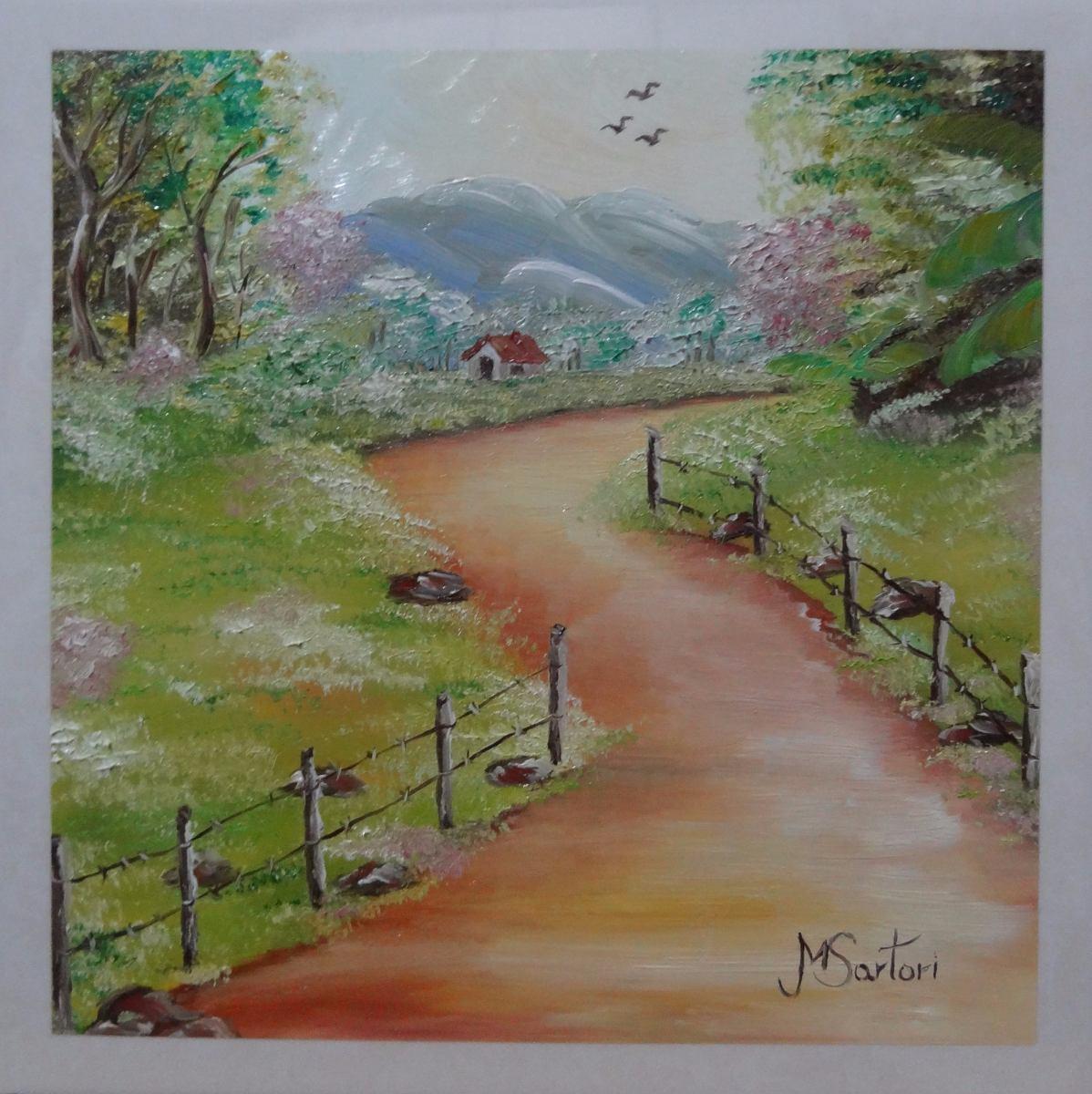 Paisagem pintura leo sobre azulejo 20x20cm r 60 00 em mercado livre - Pintura sobre azulejo ...