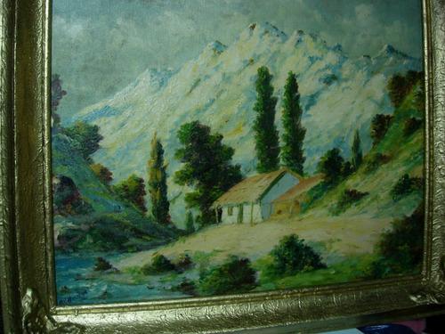 paisaje  cordillerano firmado por villarroel