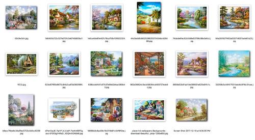 paisaje de campo lamina 50x40cm exe/calidad+muestras s/c