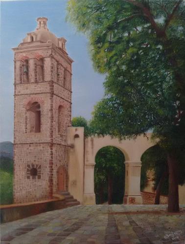 paisaje de torre de exconvento de tlaxcala