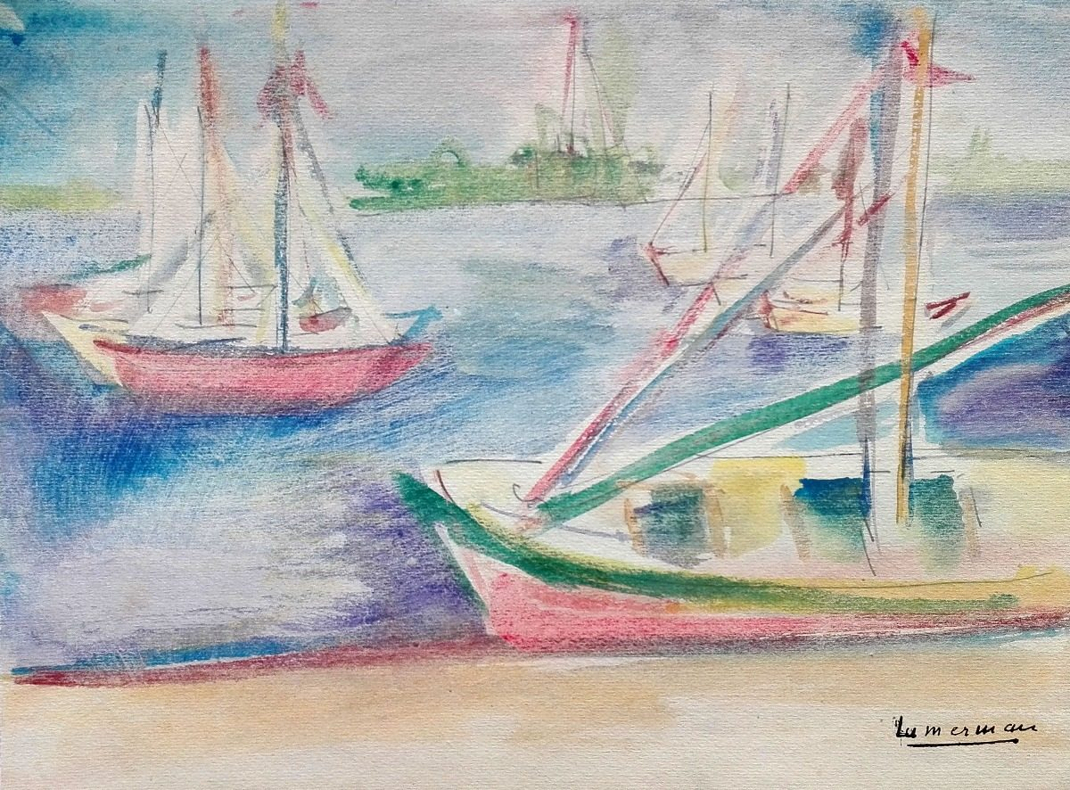 Paisaje Dibujo Lápiz Color De Juana Lumerman 125000 En