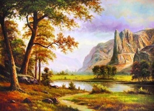 paisaje impresión del arte