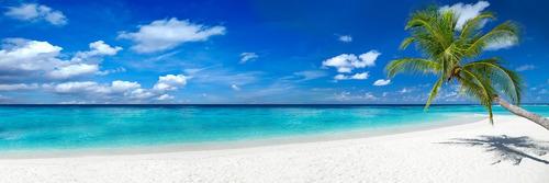 paisaje playa, mar y cielo, canvas cuadro decorativo