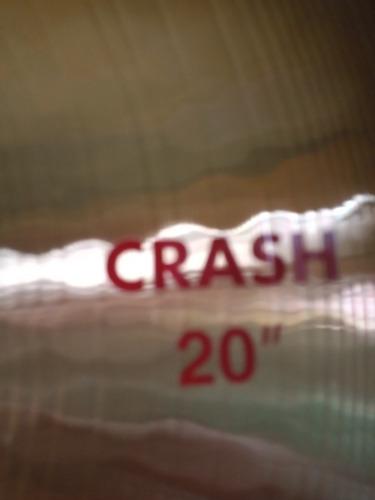 paiste 2002 crash 20 semi nuevo, b20, gama alta