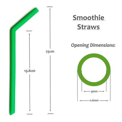 paja reutilizable smoothie bpa free silicone - (x6) extra...