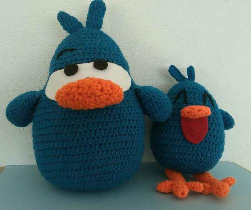 pajarito y pajaroto pocoyo crochet muñecos amigurumi