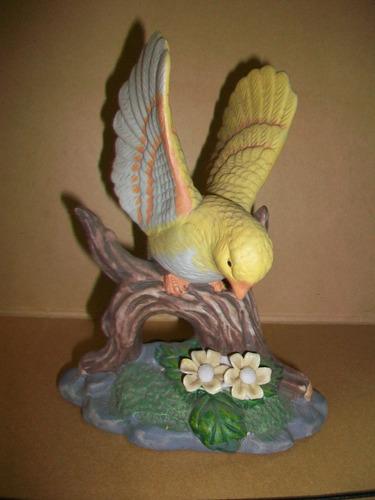 pájaro en cerámica opaca hermoso impecable retro