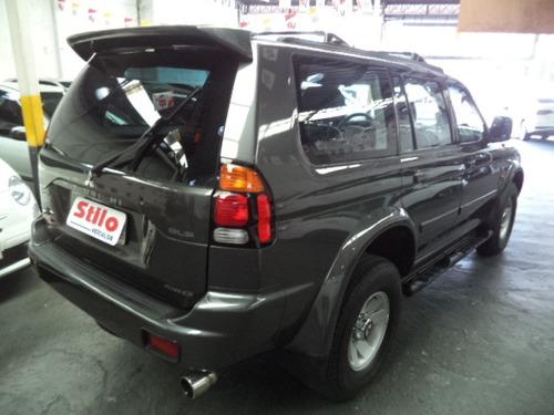 pajero sport  3.0 4x4 automatica  2004 cinza completo