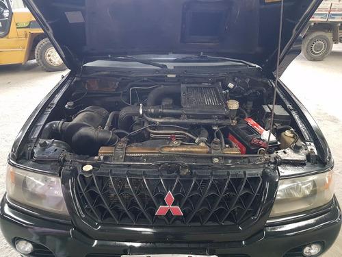 pajero sport 4x4 diesel, top de linha c/ banco de couro 2002