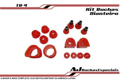 pajero tr4 - kit buchas dianteiro poliuretano 10pç
