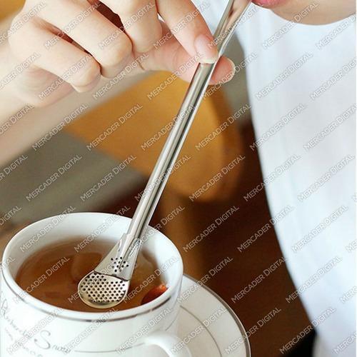 pajilla para mate acero inoxidable filtro hierbas té infusor