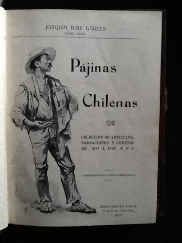 pájinas(páginas) chilenas. artículos y cuentos-joaquín díaz.