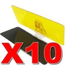 pak 10 visera visor auto hd parasol dia noche  envio gratis