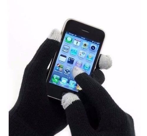 pak 6 pares guantes touch tactil  colores celular ipad color