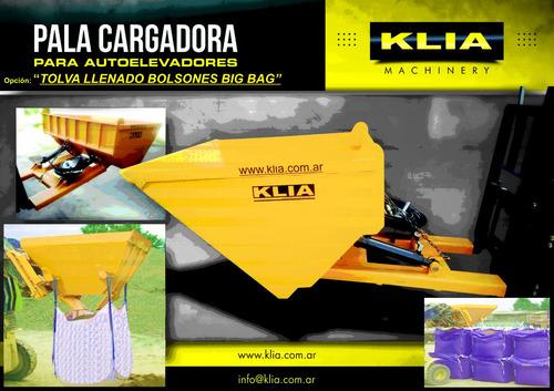 pala cargadora 1 m3 llenado bolsones big bag