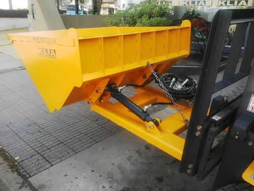 pala cargadora autoelevador 0,75 m3 (3/6/12 cheques)