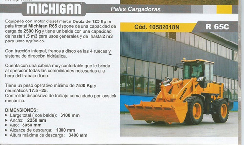 pala cargadora frontal michigan r65c