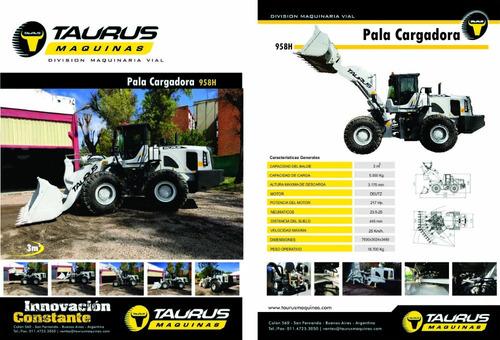 pala cargadora taurus premium 958 h 3m³