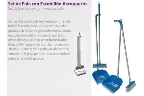 pala con cepillo escobillon aeropuerto fiorentina con agarre