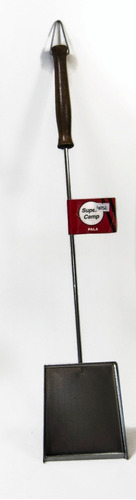pala para brasas 58 cm mango madera super camp utensilio para asado
