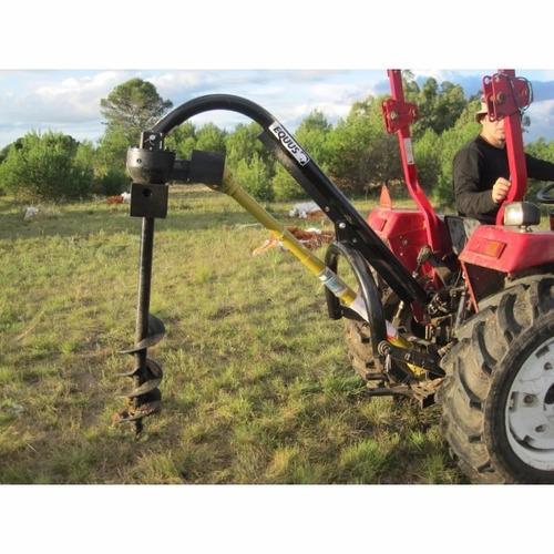 pala pocera para tractor equus con 2 mechas de 9''  y 14''