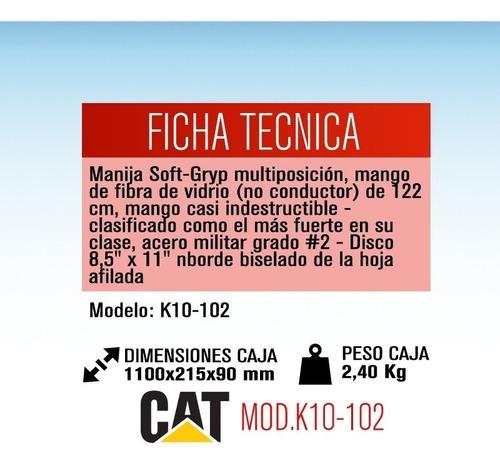 pala punta redonda acero mango en d cat k10-102 dielectrica