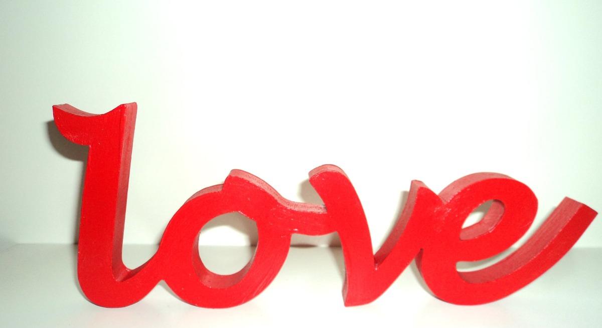 Palabras Decorativas Pintadas - Love - $ 175,00 en Mercado Libre