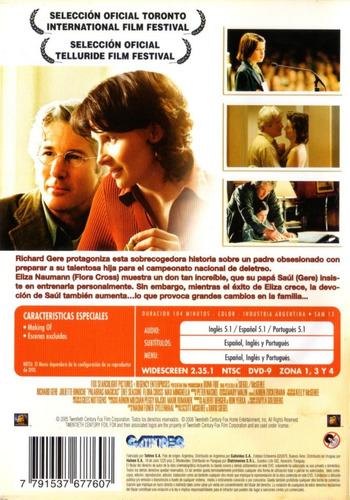 palabras mágicas ( bee season ) richard gere - dvd original