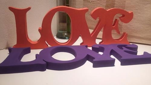 palabras y letras decoradas artesanales mdf - tipo corporeas