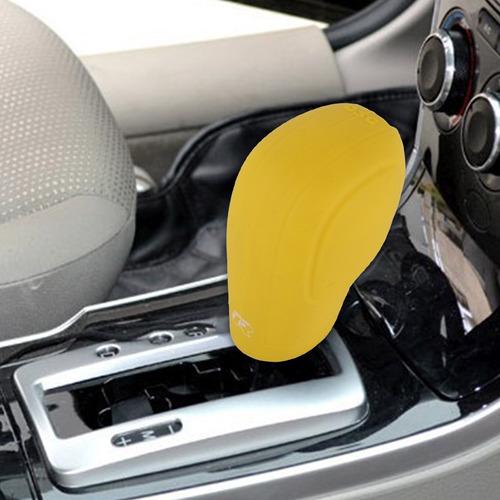palanca cambio goma freno para vehiculo cubierta amarillo