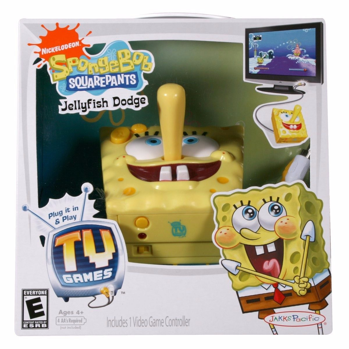 Tv Games Plug Into : Palanca con mini juegos para tv bob esponja en