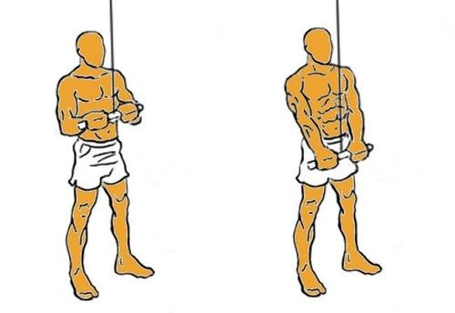palanca en v para tríceps cromada