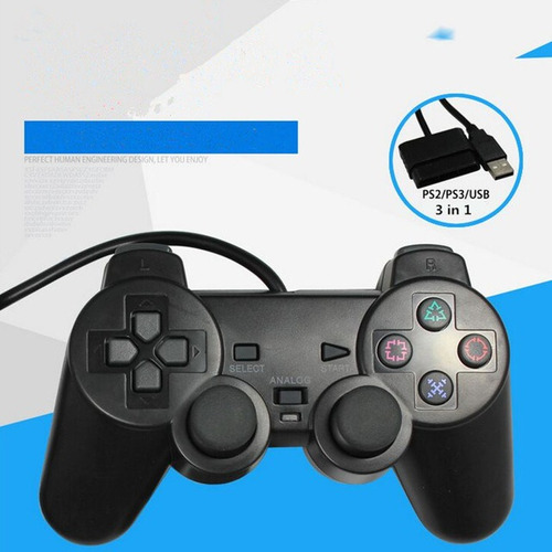 palanca pc- ps2-ps3 mando joystick, alambrica