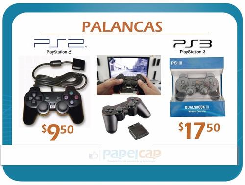 palanca play 2 y play 3 con cable e inalambricas desde $9.50