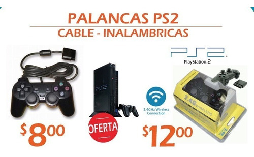 palanca ps2 cable - inalambrica play 2 garantizadas