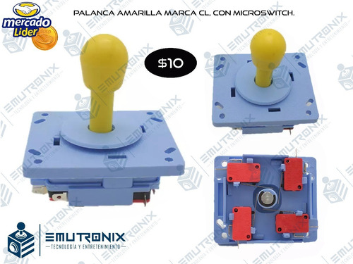 palancas joystick, multijuegos, arcade, cosmos