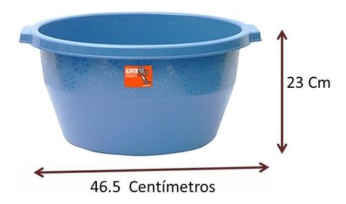 palangana tina redonda de plástico 2 pzs 22 lt incluye envío